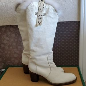 Henry Beguelin fur lined cowboy boots